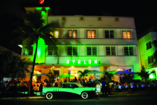 Avalon Hotel At Night