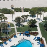 Hilton Longboat Key Beach Resort Aerial View Pool